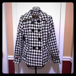 Body Central Houndstooth Pea Coat